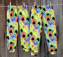 Detské oblečenie - Tepláčky Farebné príšerky - 12759663_