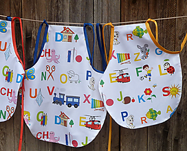 Detské oblečenie - Zásterka ABECEDA - 12760575_