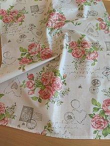 Úžitkový textil - Obrus -štóla vintage - 12760831_