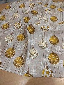 Úžitkový textil - Obrus zlaté gule - 12762194_
