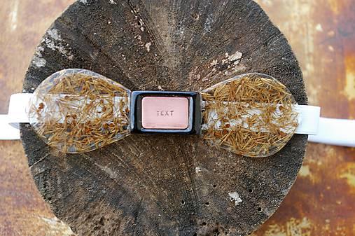 Exkluzívny motýlik kryštálová živica + lúčne trávy + jelša + agát