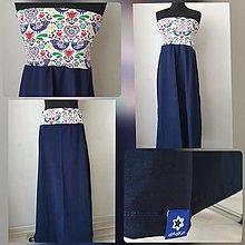 Šaty - Sukňo-šaty dlhšie (M - Modrá) - 12761375_