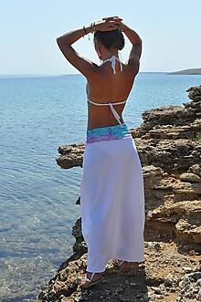 Šaty - Sukňo-šaty dlhšie (S - Biela) - 12761403_