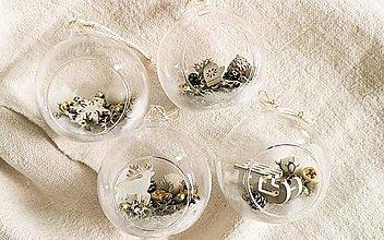 Dekorácie - Vianočné gule rezervácia 4 ks - 12762595_