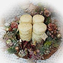 Dekorácie - Adventní svícen - Noblesní talíř - 12760389_