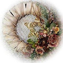 Dekorácie - Noblesní vánoční věnec - růže - 12760395_