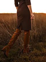 Šaty - Hnedé úpletové šaty - 12763346_
