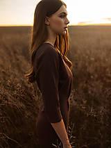 Šaty - Hnedé úpletové šaty - 12763347_