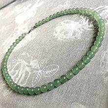 Šperky - Aventurine Men / Unisex Beaded Necklace / Pánsky alebo unisex náhrdelník aventurín zelený - 12766211_