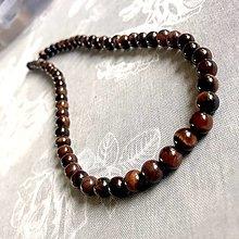 Šperky - Red Tiger Eye Men Beaded Necklace / Pánsky náhrdelník Býčie oko - 12766253_