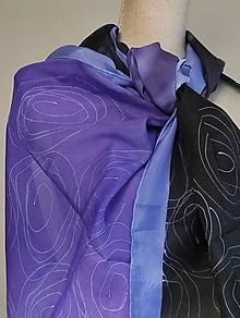 Šály - Hodvábny šál Violette - 12766307_