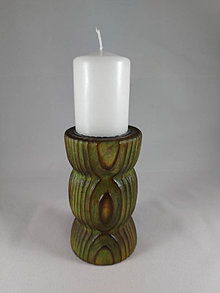 Svietidlá a sviečky - svietnik FÉNIX green - 12767348_
