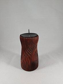 Svietidlá a sviečky - svietnik FÉNIX brown - 12767388_