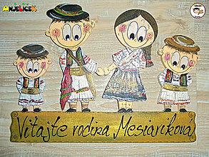 Tabuľky - Menovka - rodinka v krojoch chlapci - 12767009_