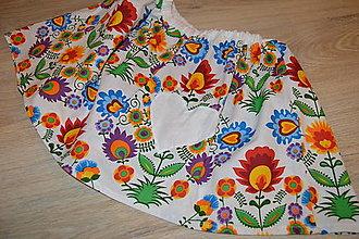 Detské oblečenie - Suknička s pískacím srdiečkom - pripravená k odoslaniu - 12764399_