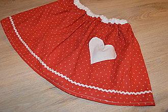 Detské oblečenie - Suknička s pískacím srdiečkom - pripravená k odoslaniu - 12764416_