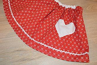 Detské oblečenie - Suknička s pískacím srdiečkom - pripravená k odoslaniu - 12764418_