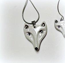 Náhrdelníky - Polárna líška - porcelánový šperk - 12766132_