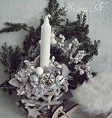 Dekorácie - Prirodný vianočný svietnik. - 12764522_