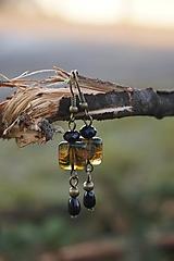 Náušnice - Štvorček travertín