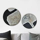 """Obrazy - Dva okrúhle obrazy """"Svetlo a tma"""" - 12766174_"""