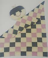 Dečka a vankúšik pre bábätko patchwork merino