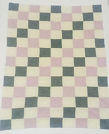 Textil - Dečka do kočíka patchwork obojstranné merino - 12765226_