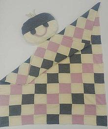 Textil - Dečka a vankúšik pre bábätko patchwork merino - 12765420_