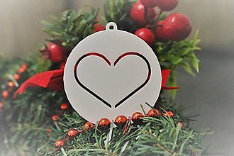 Dekorácie - Vianočná ozdoba - srdce - 12766374_