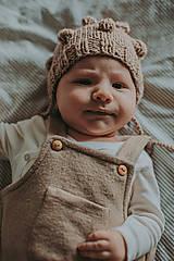 Detské čiapky - Bublinková merino čiapka - 12766475_
