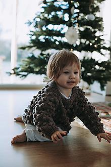 Detské oblečenie - Bublinkový merino svetrík - 12766416_