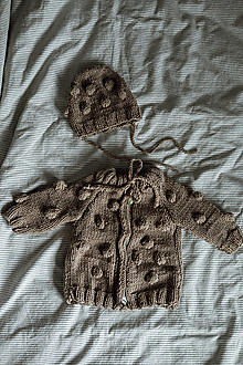 Detské oblečenie - Bublinkový kardigán - 12766437_