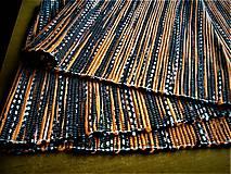 Úžitkový textil - Tkaný koberec čierno-oranžovo-biely - 12768198_