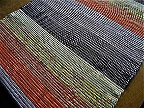 Úžitkový textil - Tkaný koberec hnedo-oranžovo-žltý 60x260 - 12764942_