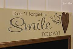 Tabuľky - Magnetická tabuľa - SMILE - 12768428_