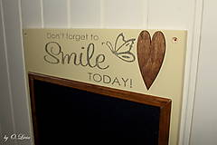 Tabuľky - Magnetická tabuľa - SMILE - 12768431_