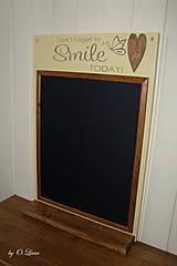 Tabuľky - Magnetická tabuľa - SMILE - 12768432_