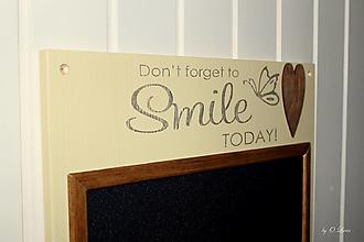 Tabuľky - Magnetická tabuľa - SMILE - 12768425_