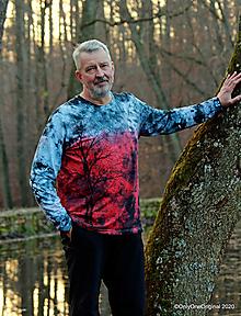 Tričká - Pánske tričko, batikované, maľované ZAHORELI ZORE - 12769768_