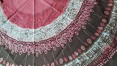 Úžitkový textil - Mandalový obrus čokoladovo-vínovo-ružová - 12768835_