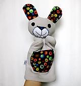 Hračky - Maňuška zajac - Zajačik od Veselého kolieska - 12768827_