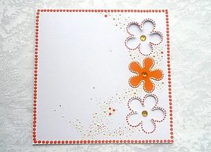 Papiernictvo - Pohľadnica - kvietky - 12770083_