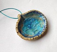 Náhrdelníky - Keramický šperk - Lagúna - 12770459_