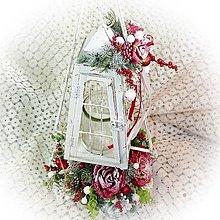 Dekorácie - Vánoční stojan s lucernou - 12768456_
