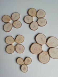 Dekorácie - Plátky z vianočného stromčeka - kvapky -  balenie 20 + 1 ks - 12768742_