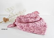 Šatky - Romantická - mušelínová šatka, malá - 12771317_