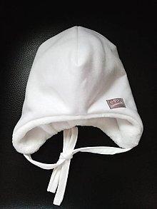 Detské čiapky - Biela ciapka - 12768783_