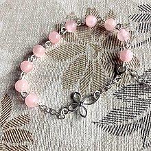 Náramky - Rosary AG925 Pink Jade Bracelet / Strieborný ruženec na ruku alebo do auta s ružovým jadeitom Ag925 - 12774532_
