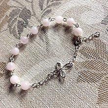 Náramky - Rosary AG925 Rose Quartz Bracelet / Strieborný ruženec na ruku alebo do auta s ruženínom Ag925 - 12774563_