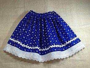 Detské oblečenie - Detská sukňa folklórna modrá - 12775245_